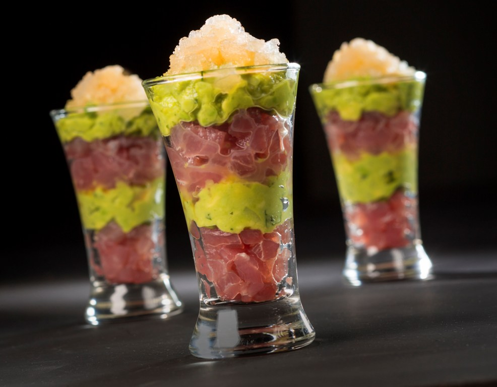 The Viscolli Key West's Tuna and Avocado Parfaits
